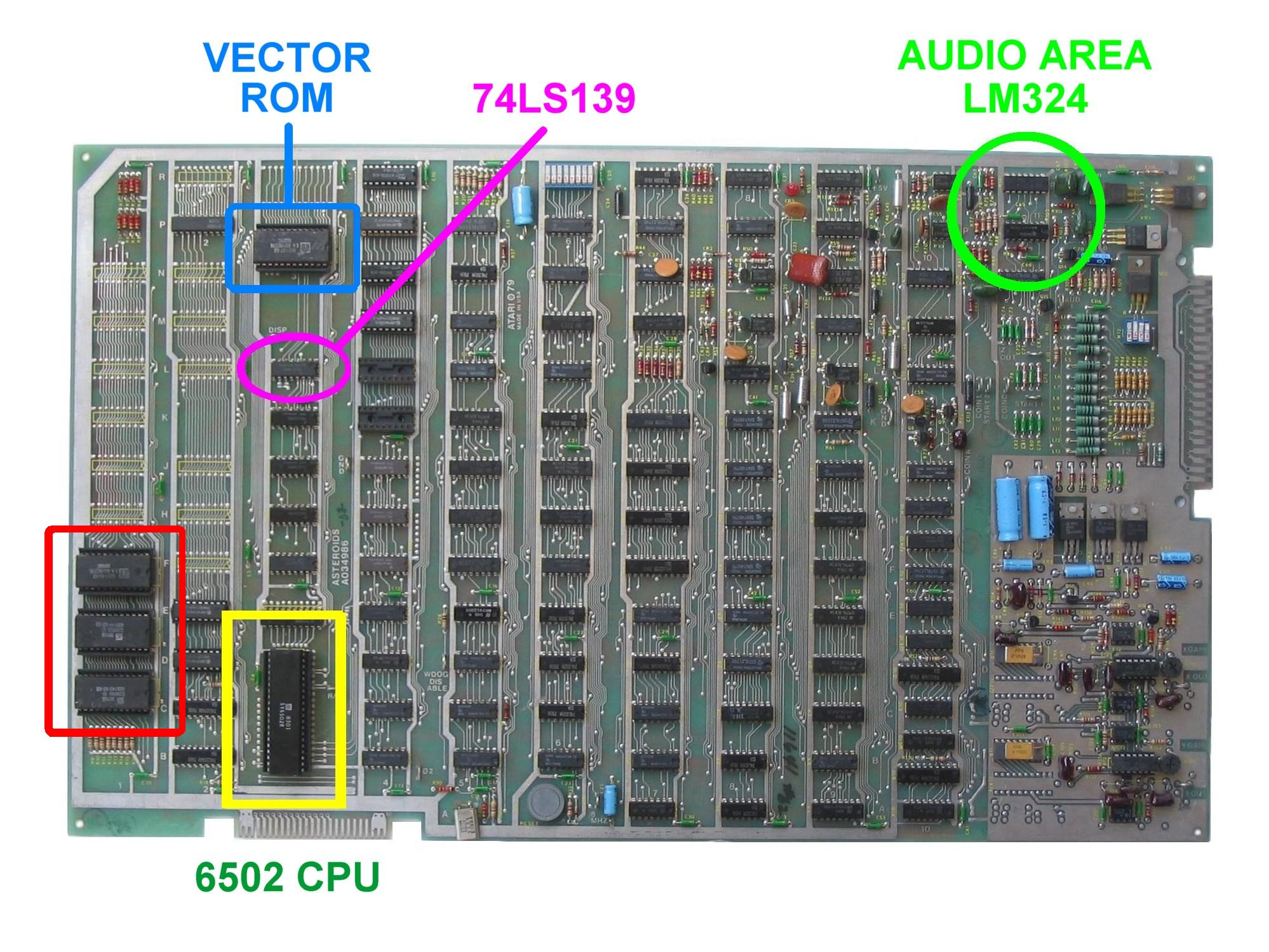 Braze Asteroids Multigame Installation Instructions Lm324 Comparator Circuit Http Wwwcircuitsonlinenet Forum View Ast Pcb